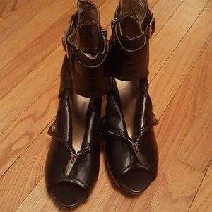 Prey Leather Ankle Booties